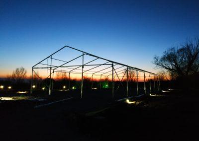 Топлия месец Февруари ни позволи да подготвим конструкцията на шатрата.